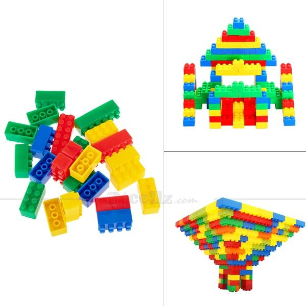 Multicolor Plastic Building Block Toy for 3+ Ages Children #plastic #toy #building #children #cellz