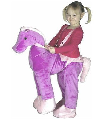 Kids Costumes: Purple Plush Horse Rider Costume Girl Ride On Halloween Dress Up Toddler 2 3 4 BUY IT NOW ONLY: $32.99