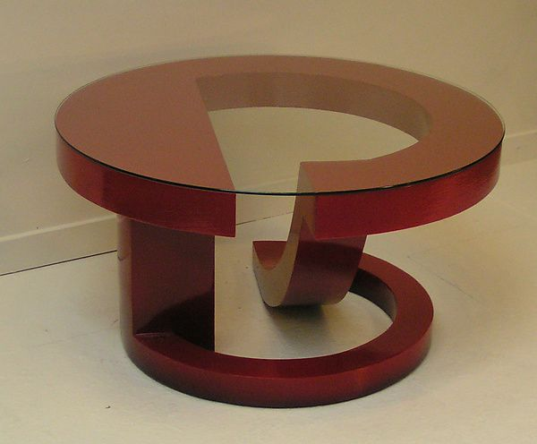 Red Coffee Table 2 By John Wilbar (Wood Coffee Table