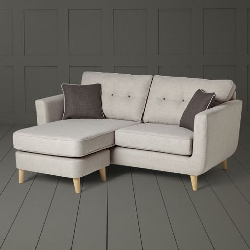 Chester Button Back Left Hand/Right Hand Chaise Sofa, Light Grey