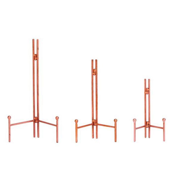 Benzara Smart Copper (Brown) Metal Easel (Pack of 3) (Copper)