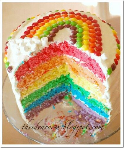 Rainbow cake. | Angel Food Cake and Sugar Cookies | Pinterest