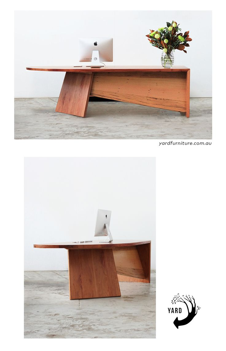 YARD furniture. Melbourne-made recycled timber furniture. Custom reception desk made from recycled redbox timber
