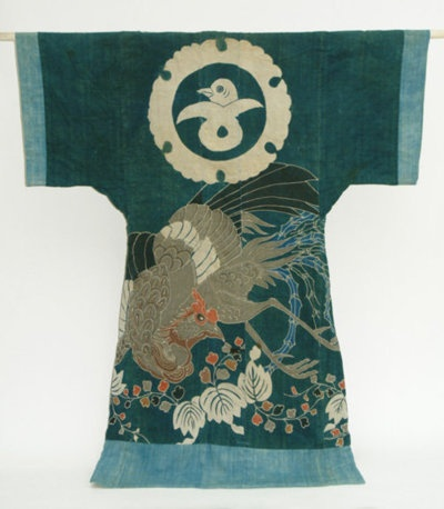 Japanese Yogi, Kimono Shape Futon Cover, Phoenix  Asian Art by Kyoko