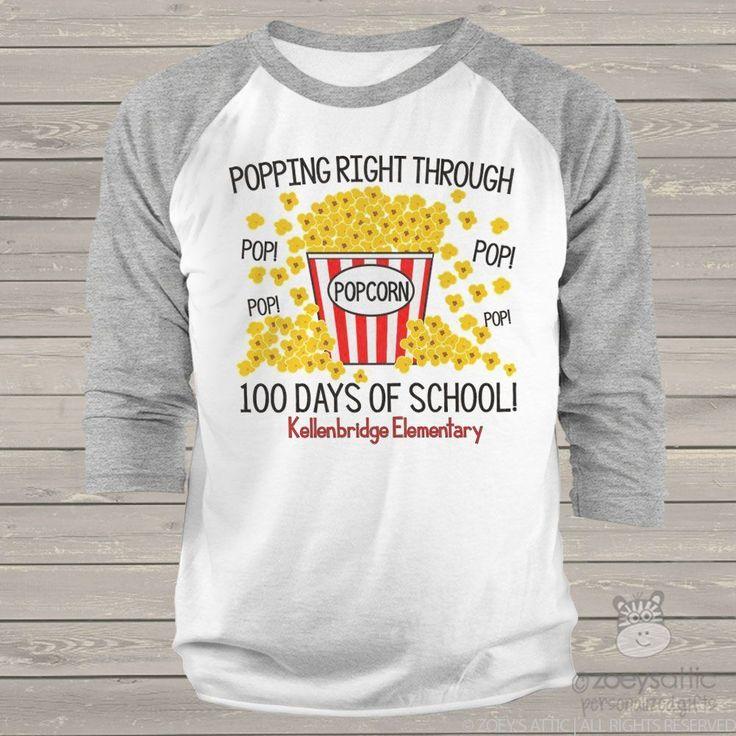 Image result for 100 days popcorn shirt