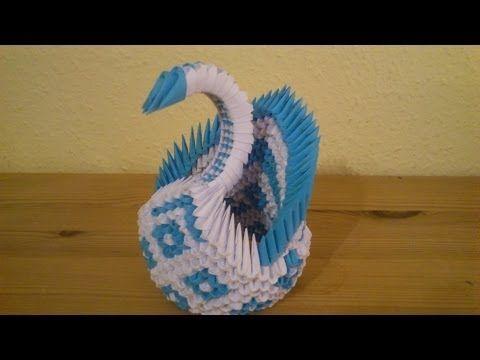 3D Origami Diamant Schwan Deutsch - YouTube
