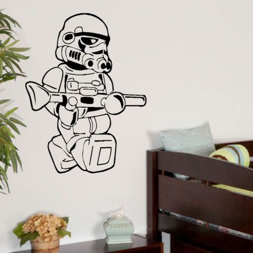 Large star wars lego men storm trooper bedroom wall art sticker transfer decal ebay