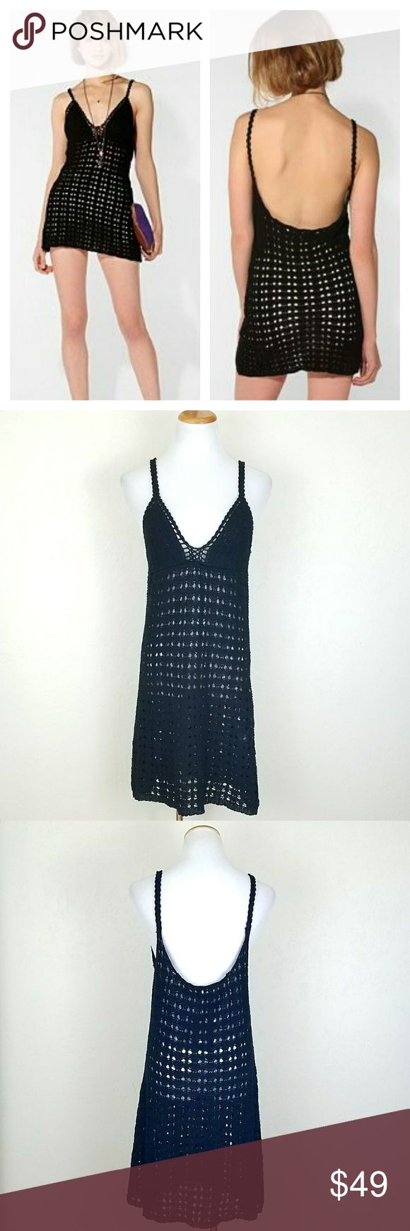 Black Crochet Festival Dress / Swim Cover We All Shine by Minkpink Urban Outfitters Exculsive. Black crochet dress. Unlined. I bought to use as a swim cover, but never used. NWT.   Bust 17 Length  37  No trade or P.P. Offers Considered Bundle discounts Urban Outfitters Dresses Mini