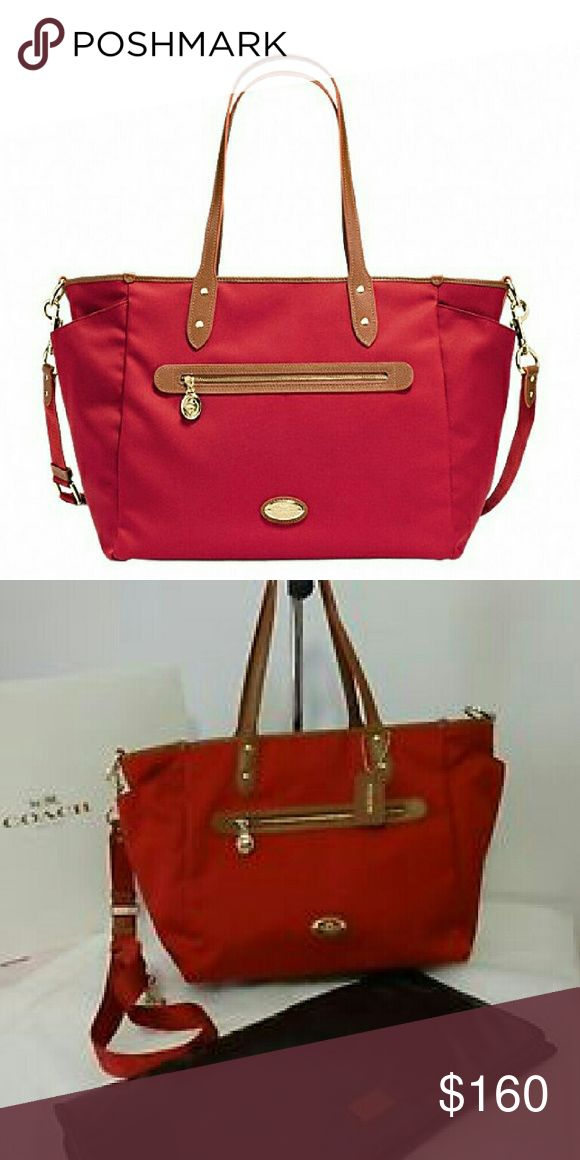 Authentic COACH Diaper Bag New with tags. 100% Authentic Coach Sawyer Red Baby Bag. Check out my other listings for other colors available. Large tote. Lower price on MERC Coach Bags Baby Bags