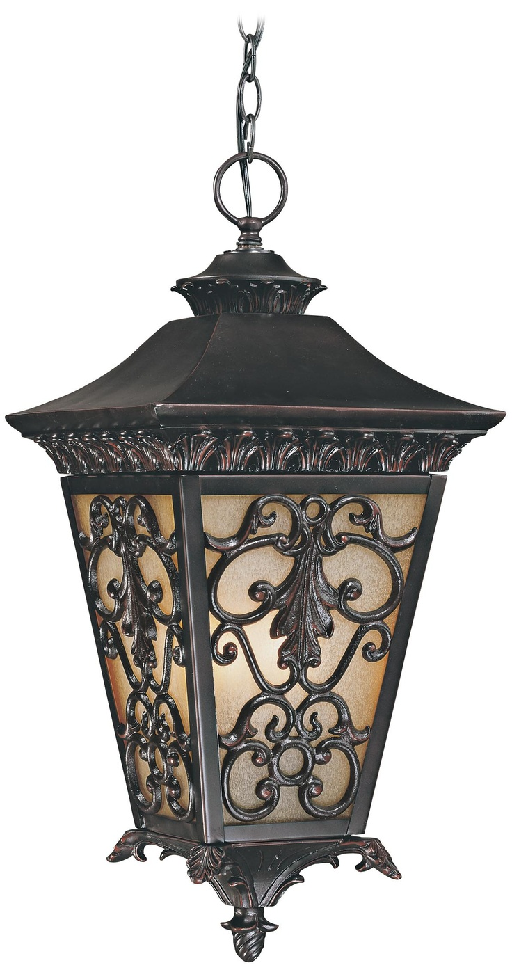 Bientina collection 23 1 4 high outdoor hanging light for Hanging outdoor light fixtures