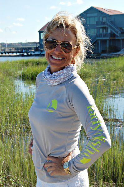 Ladyfish Yellow Tail Hanky, Buff, Gaiter, Sun protection, women | Women's Fishing Gear & Clothing | Ladies Fishing Shirts | UPF50