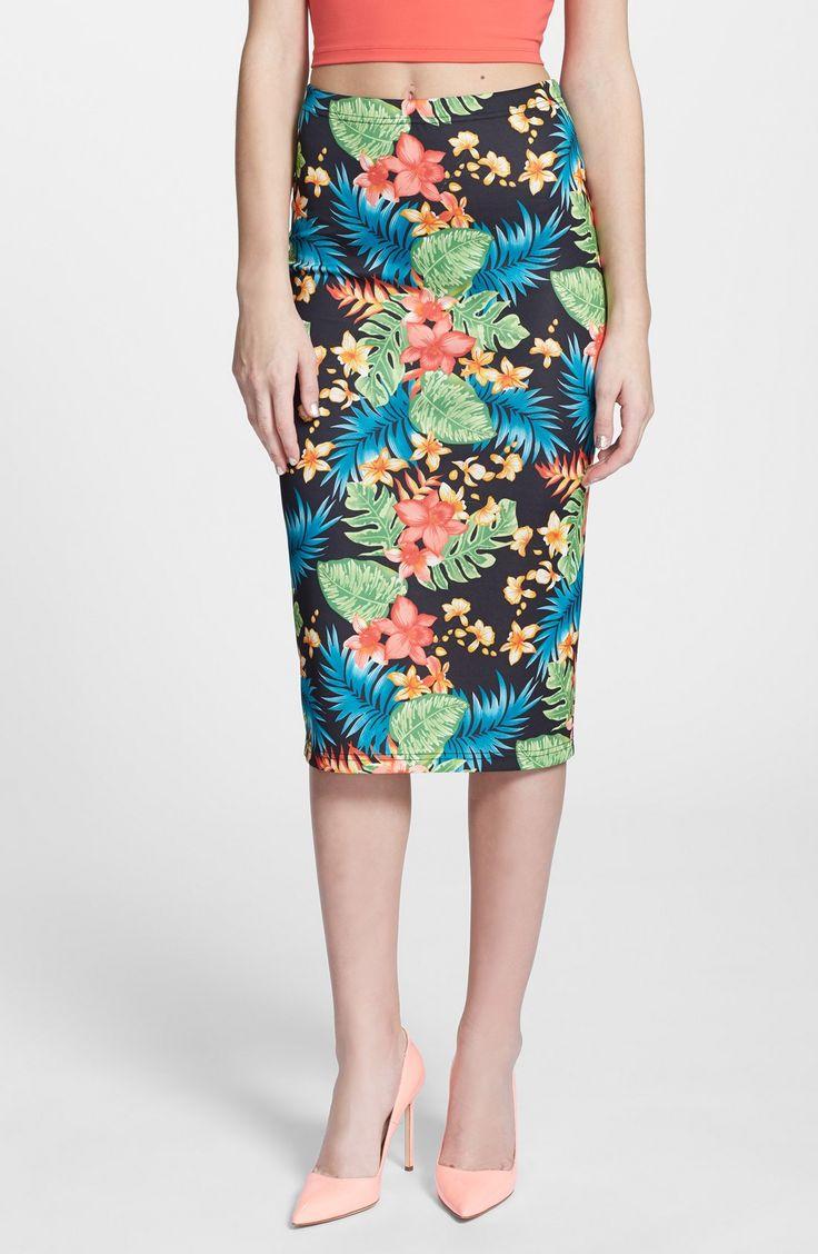 Love the midi skirt,