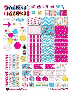 @planner.PICKETT: Free Ice Cream Printable Planner Stickers