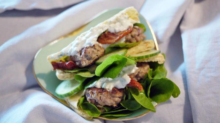 Greske kjøttboller av lam med tzatsiki