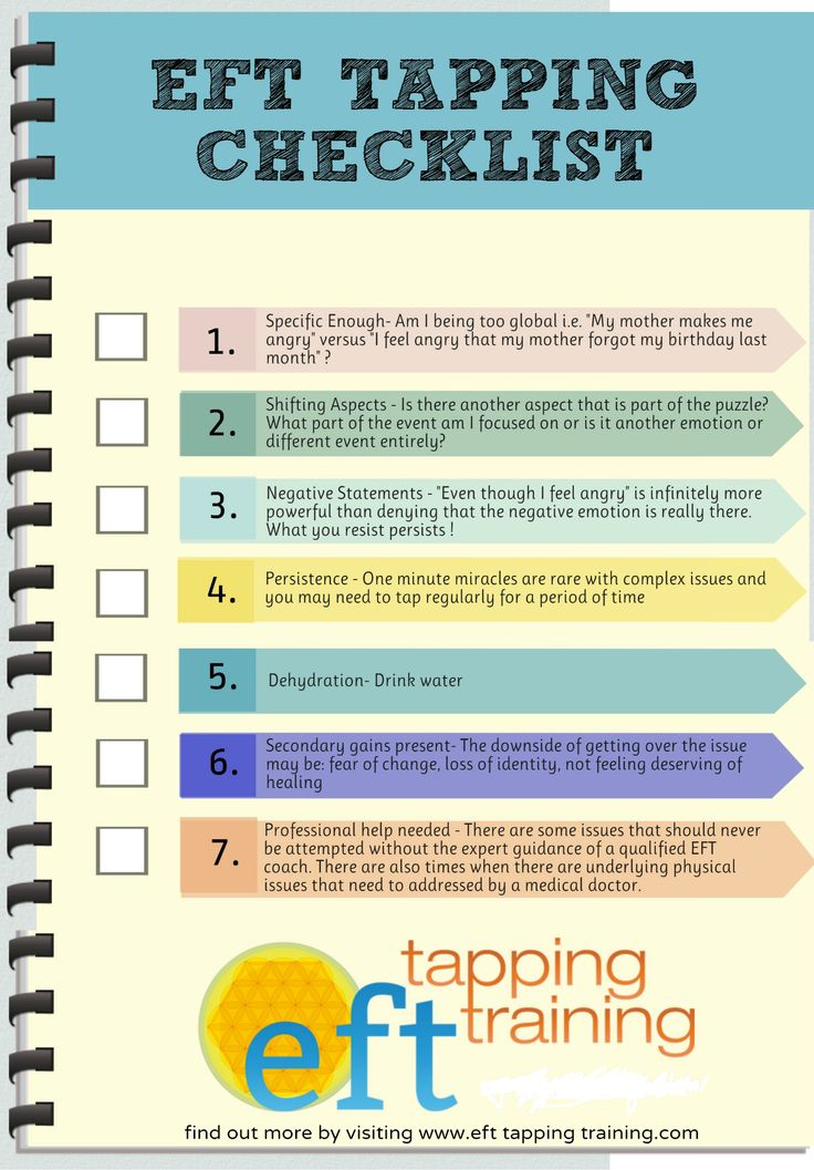 click on this to enlarge, print and save your eft tapping checklist http://www.efttappingtraining.com/eft-tapping-training-checklist-top-7-things-never-forget/