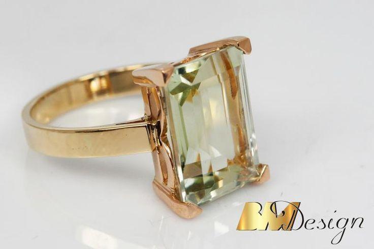 Pierścionek z zielonym kwarcem, ażurowa oprawa z różowego złota.Projekt i wykonanie BM Design.  #zielony#kwarc #diament #złoto #nazamówienie #złotnik #biżuteria #ręcznierobione #piękny #tęczowy #złoty #Rzeszów #BM #wisiorek #przywieszka