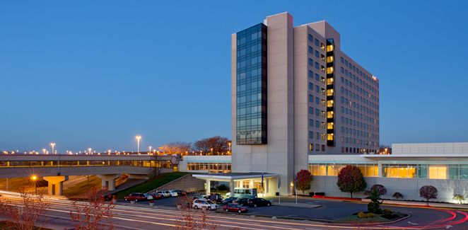Hyatt Regency Pittsburgh International Airport.  Address: 1111 Airport Boulevard, Pittsburgh, PA 15231, United States
