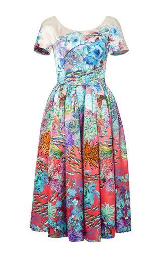 Silera printed midi dress by MARY KATRANTZOU Available Now on Moda Operandi