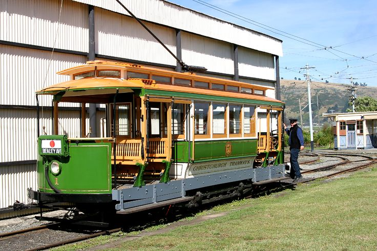 Christchurch Stephenson Californian combination tram No 1 at the Ferrymead Tramway