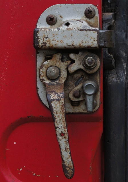 A cool old fashioned door lock mechanism on a 39 70s toyota - Old fashioned interior door locks ...