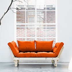 @Overstock - With a unique design and high quality construction, the Fresh Futon Beat provides a comfortable and stylish solution to your sitting and sleeping needs. Easily adjusted from a bench to sleep surface, the Beat is perfect for accommodating guests.http://www.overstock.com/Home-Garden/Orange-Fresh-Futon-Beat/6507831/product.html?CID=214117 $416.99