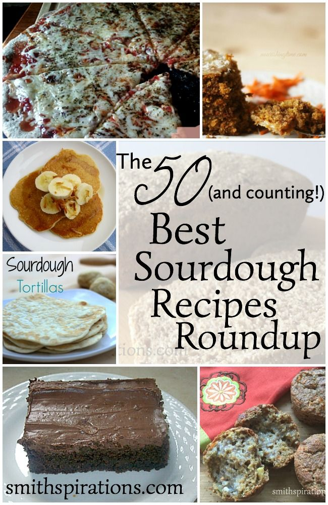 Baking with sourdough is much easier than you'd think! There are so many fantastic ways to use sourdough and these recipes are so yummy! The 50 (and counting!) Best Sourdough Recipes Roundup