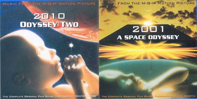 Alex North  ‎– 2001 - A Space Odyssey / David Shire - 2010 - Odyssey Two (2 CD)