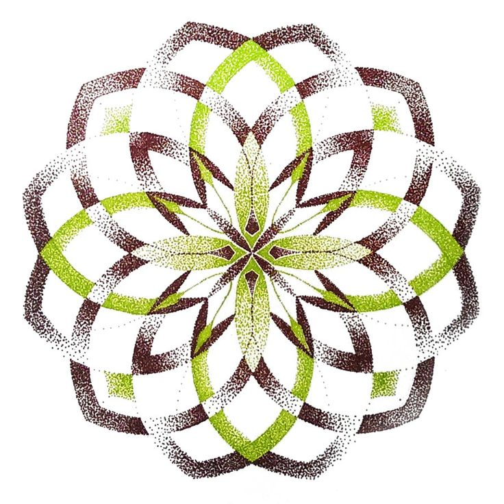 Green and brown dotted mandala by M-Curiosity :)