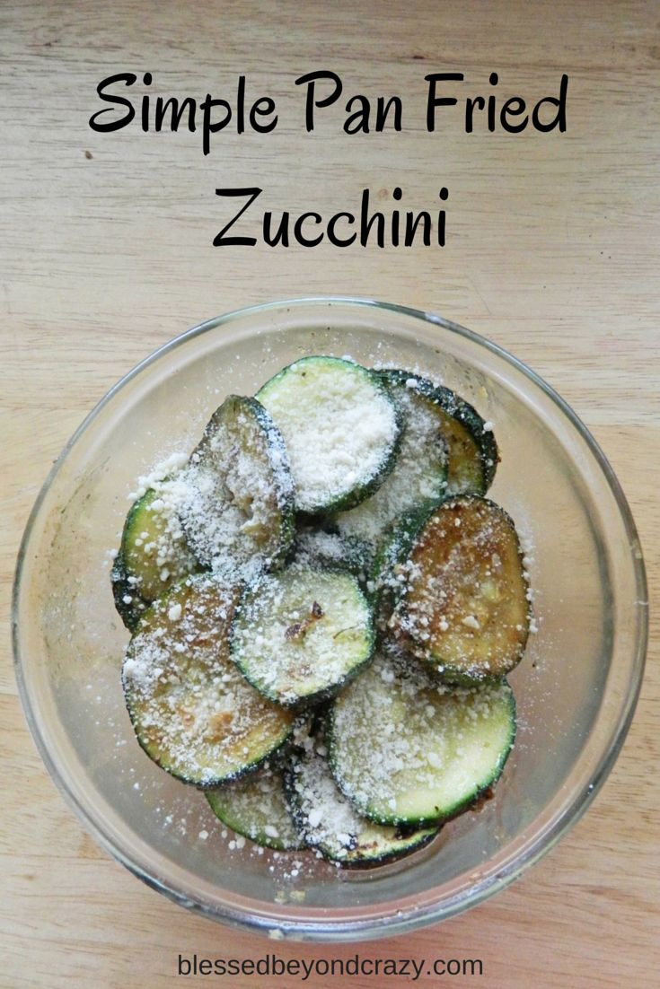 Pan fried zucchini recipes easy