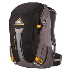 High Sierra Pathway 40L Internal Frame Backpack - Black/Slate/Gold