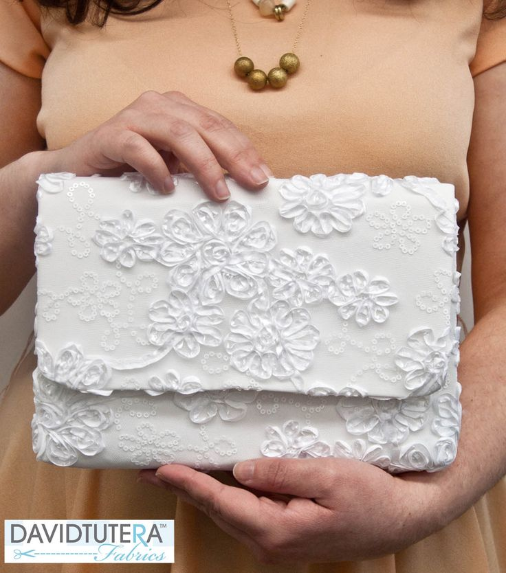 David Tutera Fabrics Lace Clutch   DIY Lace Clutch   Spring Fashion   DIY Fashion