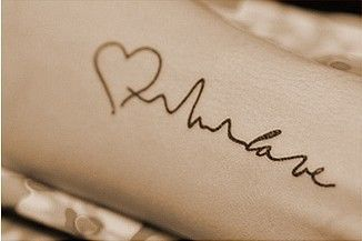 Tattoo~ Love Heartbeat