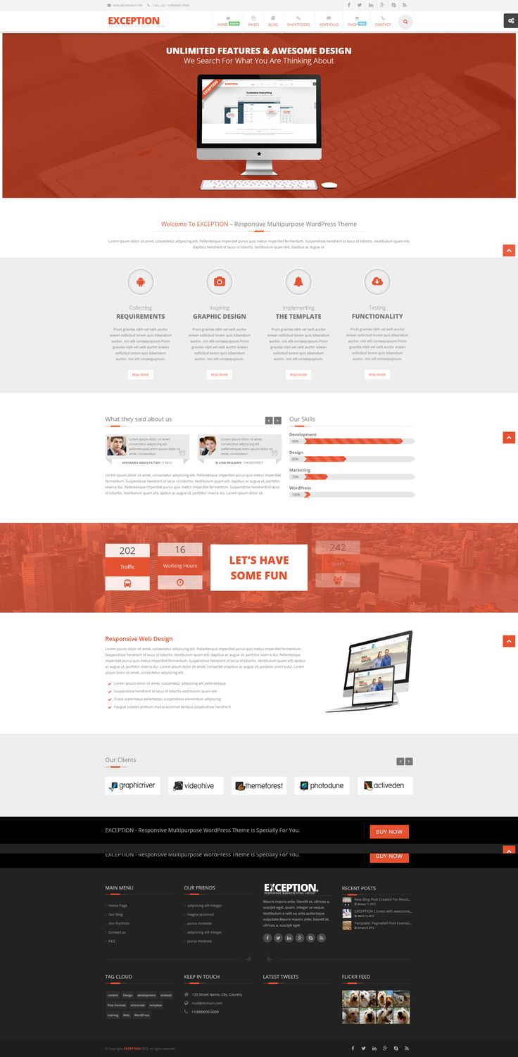EXCEPTION is a Responsive Multi-Purpose WordPress Theme - http://bit.ly/1WYXo1G