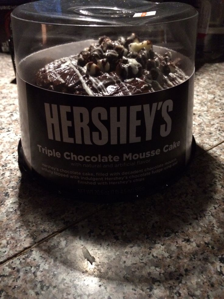 Hersheys chocolate mousse cake going to eat it now im
