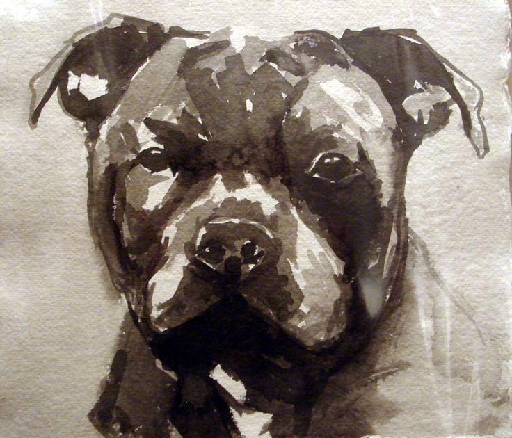 213 best images about pit bull art on pinterest oil on canvas artworks and pet portraits. Black Bedroom Furniture Sets. Home Design Ideas