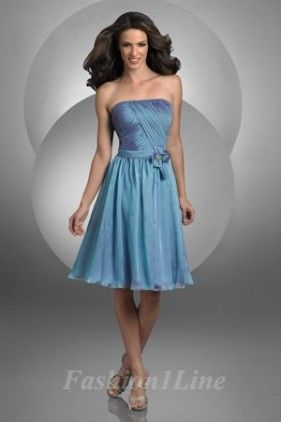 Bridesmaid dresses blue with fun skirt