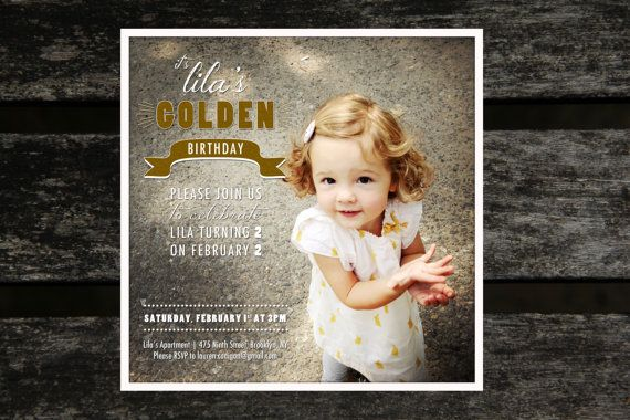 Children's Golden Birthday Invitation