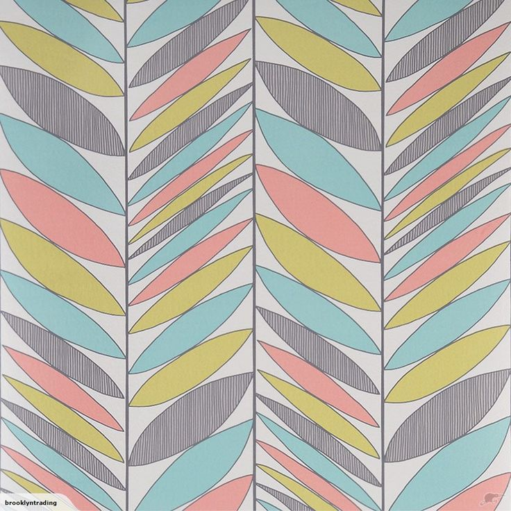 Contour Wallpaper - Abstract Leaves Multi - 20-584 | Trade Me