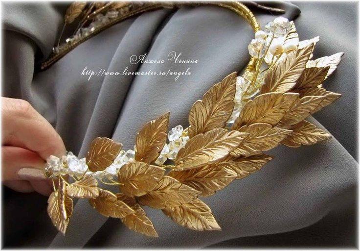Картинки по запросу как сделать золотой лавровый венок своими руками