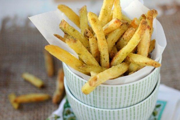 Truffled Garlic & Green Herb Fries... a perfect marriage of garlic ...