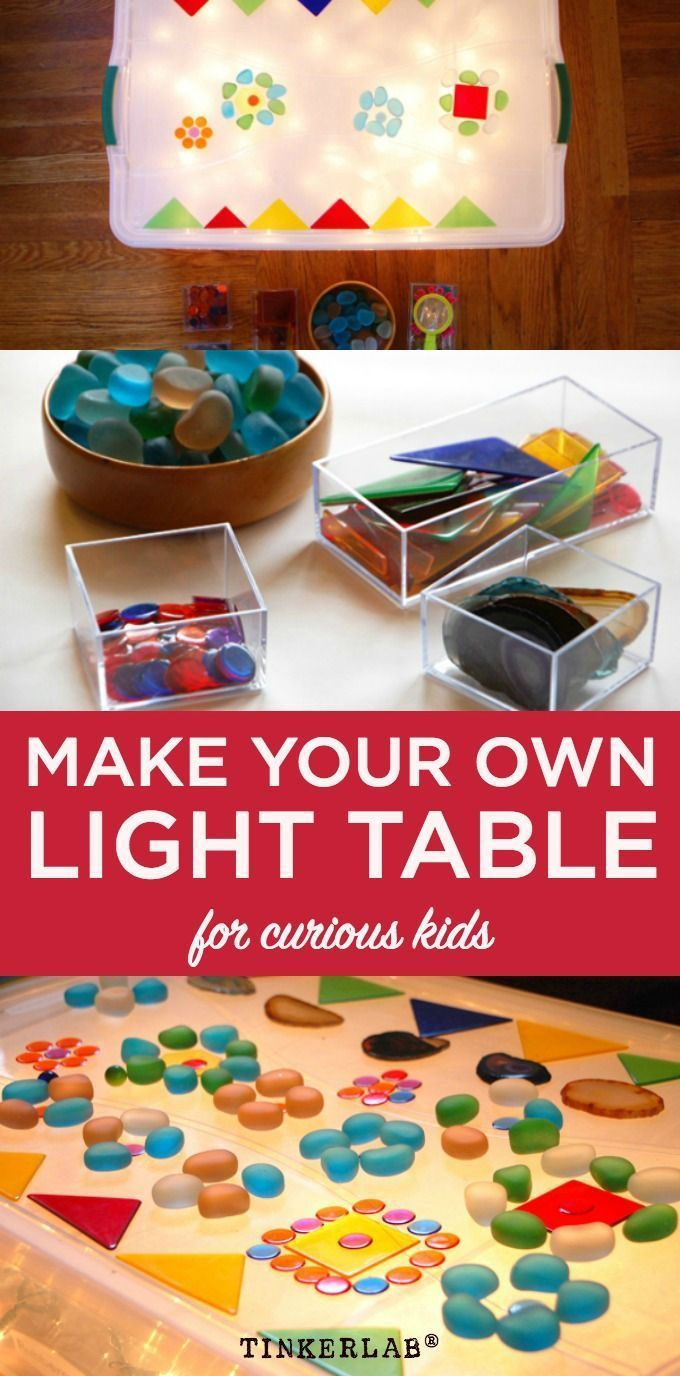 Dead simple. How to make your own (easy) diy light table for curious and creative kids.