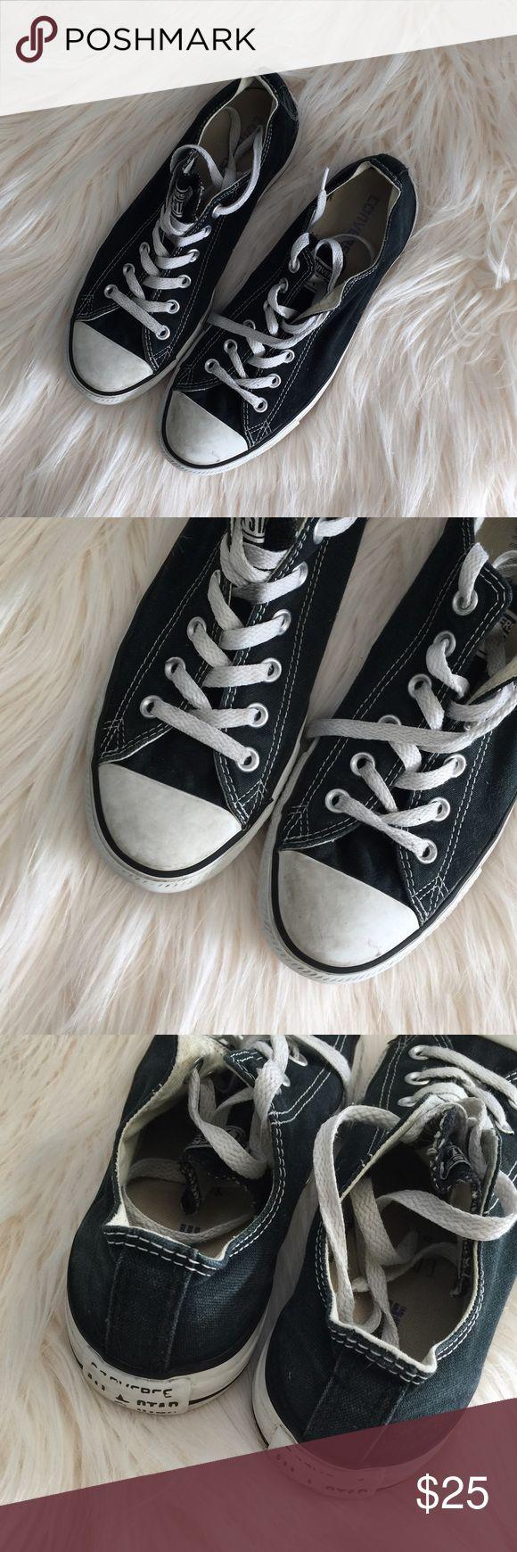 Men's Classic Black Converse 7 Chuck Taylors Men's Classic Black Chuck Taylor's Converse sneakers. Size 7. Converse Shoes Sneakers