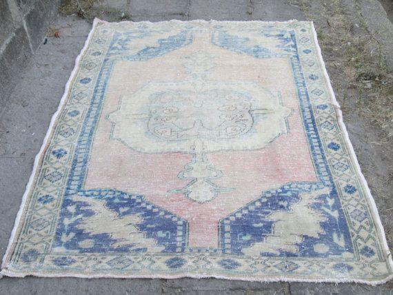 VINTAGE Oushak Tribal Turkish Handwoven Wool Rug Carpet - Home Rug - Office Rug - Home Decor Rug Description - Design: Traditional - Color: Natural