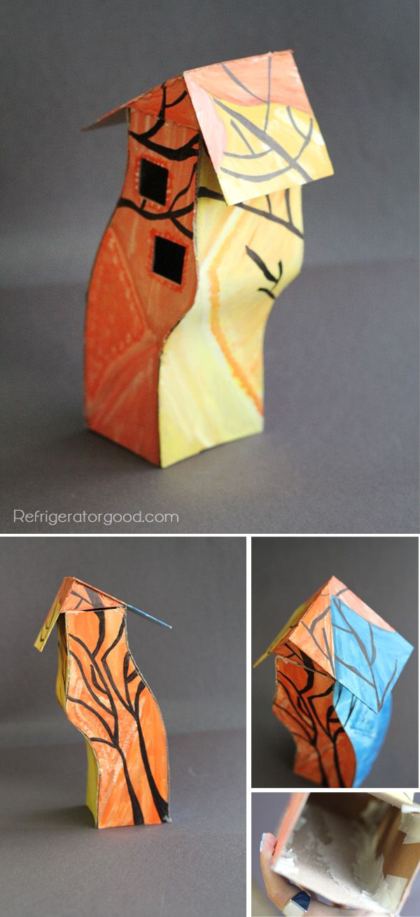 HIgh School Art lesson // David Stabley Cardboard Houses // Art II