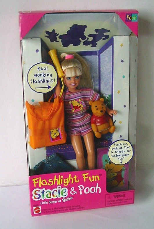 Image result for Disney 1997 Barbie Stacie Flashlight Fun