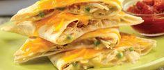 Creamy Chicken Quesadillas