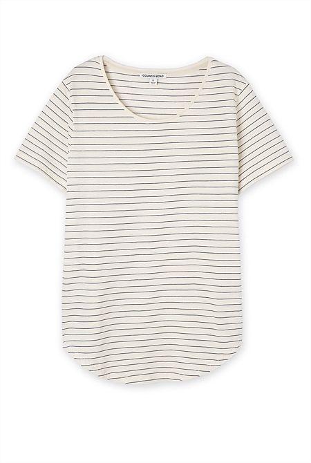 Stripe Sweat T-Shirt