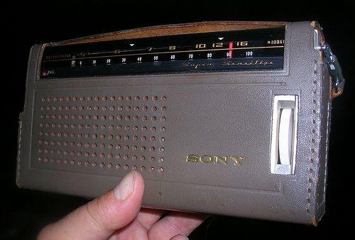 Vintage Sony 8-Transistor Radio, Model TR-818, Made in ...