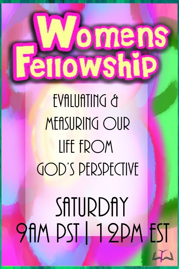 #WomensFellowship July 19th 12pm EDT We meet every 3rd Saturday of every month. Sign in Here this Saturday : https://tltf.webex.com/