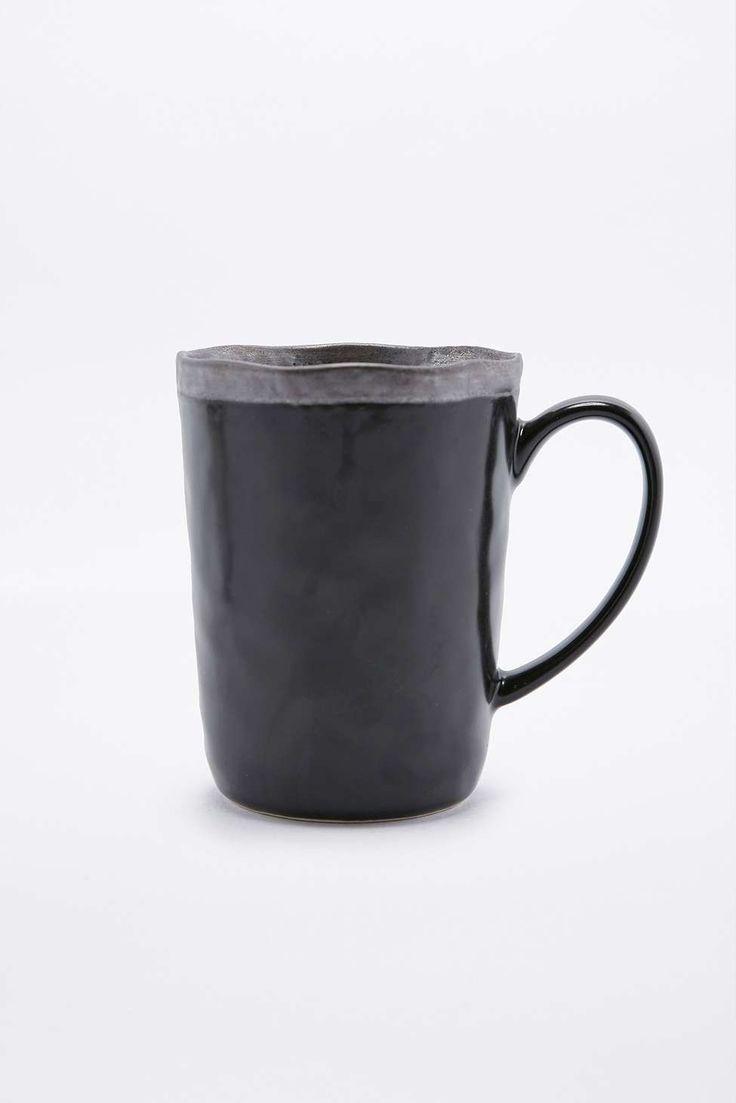 Keramik, Tasse, schwarz und schön